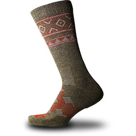 Thorlos Outdoor Traveler - Chaussettes - marron/rouge